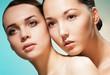 Two women beauty portrait