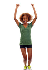 Excited Black Woman