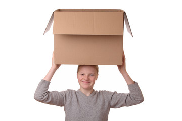 Girl with box