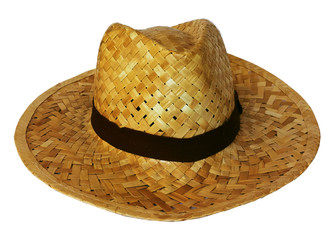 Woven Hat on white background.