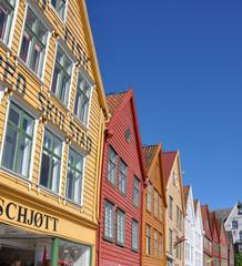 Historische Einkaufsstrasse, Bryggen, Bergen, Norwegen
