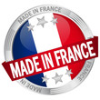 """Button mit Banner """"Made in France"""""""