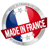 "Button mit Banner ""Made in France"""