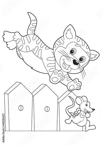 In de dag Doe het zelf The coloring plate - illustration for the children