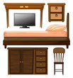 Various furnitures and lcd television