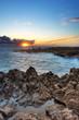 Crépuscule au gouffre de l'Etang-Salé, La Réunion.