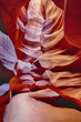 vertical view in the Antelope Canyon
