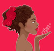 African-American woman in love