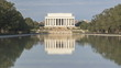 Timelapse of Tourists visiting Washington Lincoln Memorial