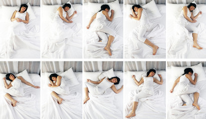 FEMME - POSITIONS SOMMEIL