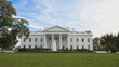 Time lapse of the White House with a blue sky