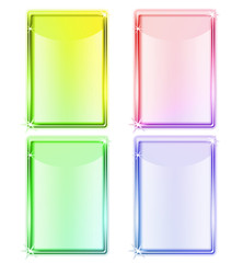 four colored tablet screen devices for editation