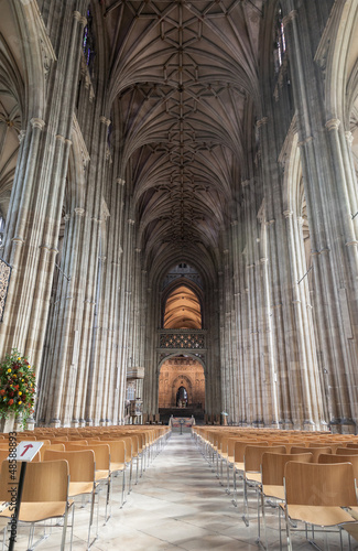 Internal view of Canterbury Cathedral