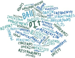 Word cloud for Ball pit