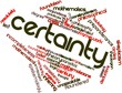 Word cloud for Certainty