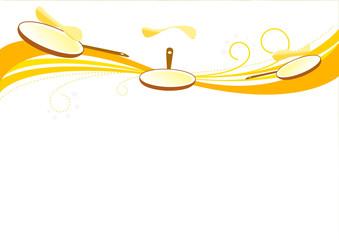 Frise chandeleur poêle haut - Chandeleur