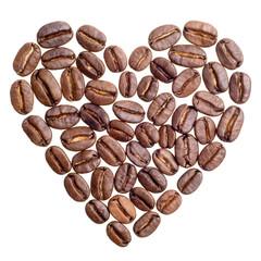 Herz aus Kaffeebohnen