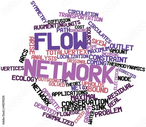 Word cloud for Flow network