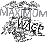 Word cloud for Maximum wage poster