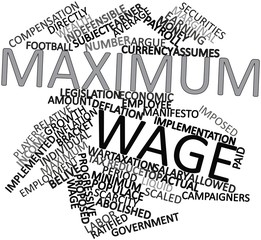 Word cloud for Maximum wage