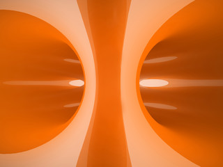 Orange abstraction illustration