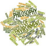 Word cloud for Philosophy of environment poster