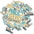 Leinwandbild Motiv Word cloud for Public service