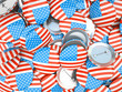 Buttons with American flag