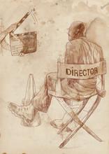 L'environnement du film: Réalisateur et clap