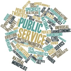 Word cloud for Public service