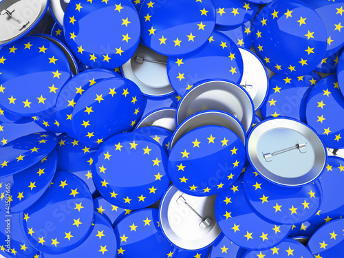 Buttons with EU flag