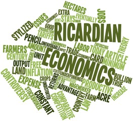 Word cloud for Ricardian economics