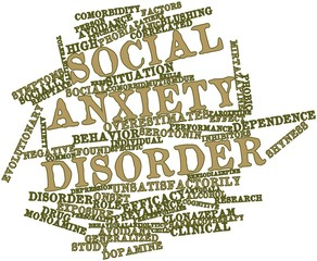 Word cloud for Social anxiety disorder