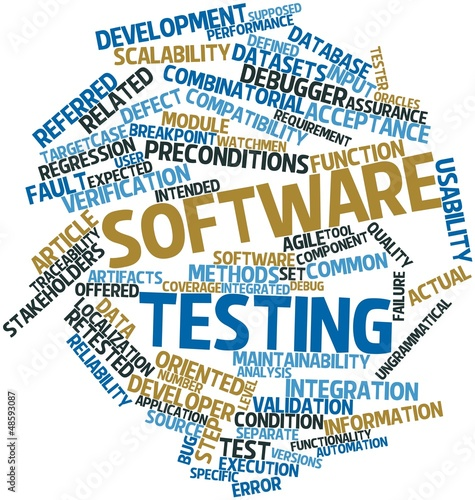 Word cloud for Software testing