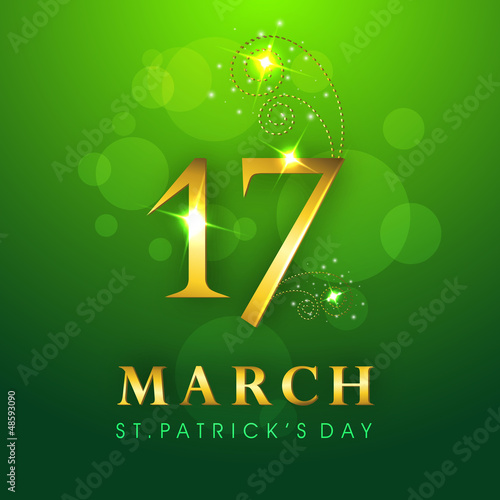 Saint Patrick's Day background or greeting card. EPS 10.