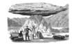 Gletschertisch auf dem Mer de Glace (Alte Lithographie)