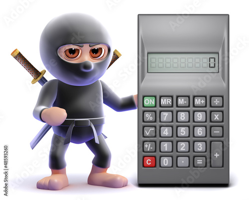Ninja is calculating