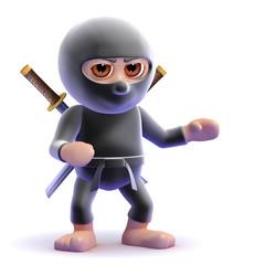 Ninja gestures to the left