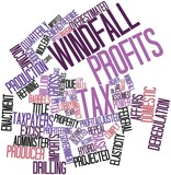 Word cloud for Windfall profits tax