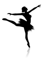 Ballerina in Arabesque Haltung – Vektor und freigestellt