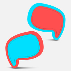 pop color speech bubble