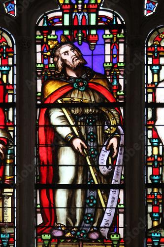 King David , Saint Germain-l'Auxerrois church, Paris