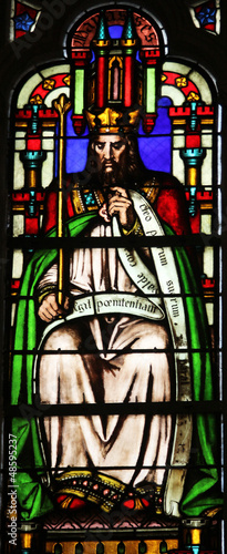 Manasseh, stained glass Saint Germain-l'Auxerrois church, Paris