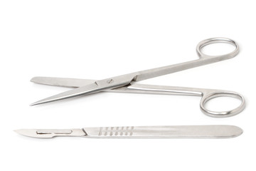 Scalpel and Surgical scissors