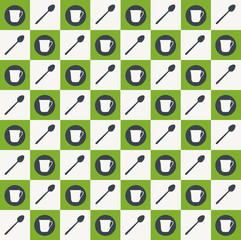 Tea pattern. Vector