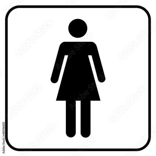 WC Symbol Toilette Frau