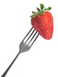 Strawberry and Fork