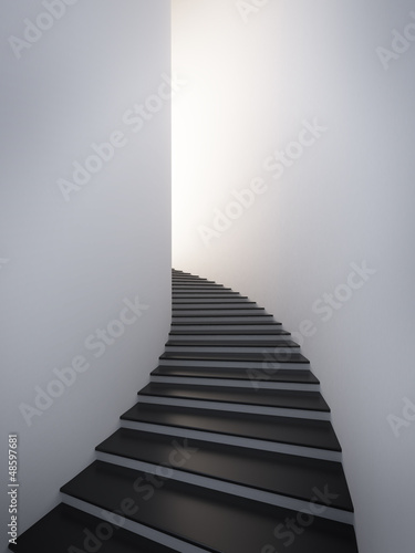 Black spiral stair - 48597681