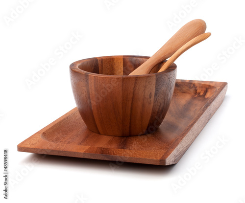 Handmade wooden kitchen dishes
