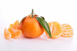 isolated ripe tangerine